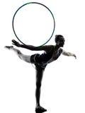 Femme de fille de teeenager de gymnastique rythmique Photographie stock libre de droits