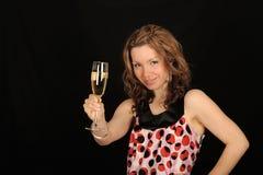 femme de fixation de boissons photo stock