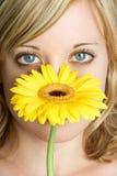 Femme de fleur photographie stock