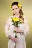 Femme de fleur Images libres de droits