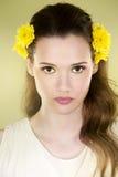 Femme de fleur Photos libres de droits