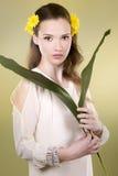 Femme de fleur Image libre de droits