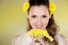 Femme de fleur Image stock