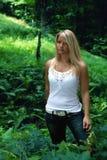 femme de forêt Images libres de droits