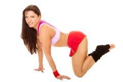 Femme de forme physique avec le bon chiffre Photographie stock