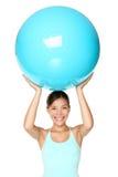 Femme de forme physique de Pilates d'isolement Image libre de droits