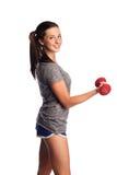 Femme de forme physique en stationnement Photo stock