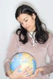 femme de globe Image stock