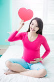 Femme de grossesse de beauté Photographie stock