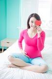 Femme de grossesse de beauté Image libre de droits