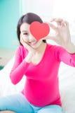 Femme de grossesse de beauté Image stock
