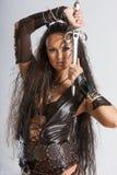 Femme de guerrier - Amazone Images libres de droits