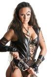 Femme de guerrier - Amazone Photographie stock