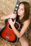 Femme de guitare photo libre de droits