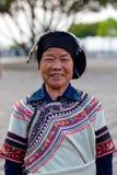 Femme de Hani, Chine Image libre de droits