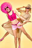 Femme de hippie de mode de beauté, soeurs élégantes Images libres de droits