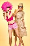 Femme de hippie de mode de beauté, soeurs élégantes Images stock