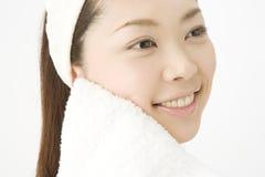 femme de Japonais de visage Photographie stock libre de droits