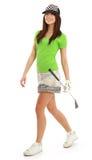 Femme de joueur de golf. Photographie stock