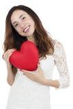 Femme de jour de valentines Photographie stock