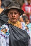 Femme de Kichwa utilisant un chapeau Image stock