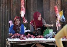 Femme de l'Asie de marché de nourriture du Cambodge Photo libre de droits