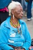 Femme de l'ethnie de Métis dans Otavalo, Equateur Photo stock