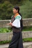 Femme de l'ethnie de Métis dans Otavalo, Equateur Images libres de droits
