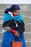Femme de l'ethnie de Métis dans Otavalo, Equateur Photos stock