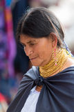 Femme de l'ethnie de Métis dans Otavalo, Equateur Photo libre de droits