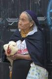 Femme de l'ethnie de Métis dans Otavalo, Equateur Photographie stock