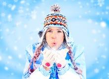 Femme de l'hiver photographie stock