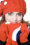 Femme de l'hiver Photographie stock libre de droits