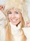 Femme de l'hiver Photos stock