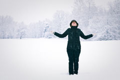 femme de l'hiver Photos libres de droits