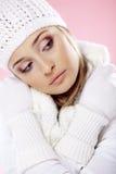 Femme de l'hiver de mode Photo stock
