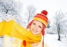 femme de l'hiver de vêtement Images stock