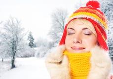 femme de l'hiver de vêtement Photo stock