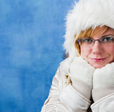 Femme de l'hiver, verticale Photos libres de droits