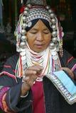 Femme de la tribu d'Akha, Thaïlande Image libre de droits