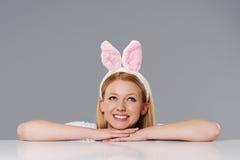 Femme de lapin Images stock