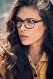 Femme de lunettes Image stock