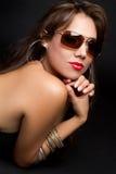 Femme de lunettes de soleil Image libre de droits