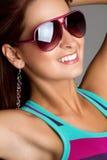 Femme de lunettes de soleil Photos stock