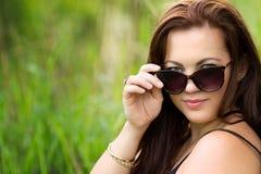 Femme de lunettes de soleil Photo libre de droits
