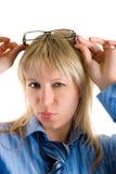 femme de lunettes de soleil Photographie stock