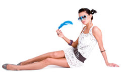 femme de lunettes de soleil de charme Photo stock
