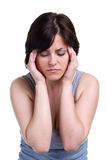 femme de migrane de mal de tête Photo libre de droits