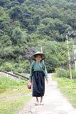 Femme de minorité ethnique de Tay images stock