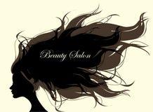 Femme de mode avec de longs cheveux Illustration de vecteur illustration de vecteur